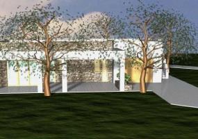 foto di un giardino curato con bellissima villa in salento