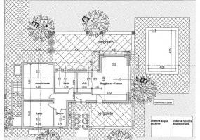 immagine di una planimetria della villa in salento