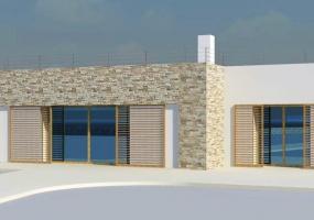 Foto di una villa con ampie vetrate d'ingresso in salento