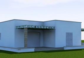 Questa è la foto di una villa con un porticato in salento precisamente a Leuca