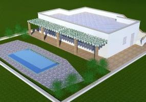 Questa è l' immagine di una villa in salento  precisamente in Santa maria di Leuca con piscina