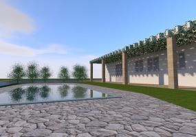 Questa è una immagine di una villa e lo spazio esterno in salento ubicata precisamente in Santa Maria di Leuca