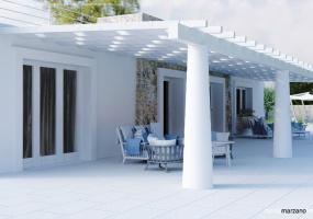 foto di una meravigliosa villa lminosa con veranda esterna in salento ubicata nella splendida Santa Maria di Leuca