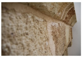 foto di una parte di muro di antica costruzione del palazzo antico sito in salento ubicato precisamente in Ruggiano di Salve
