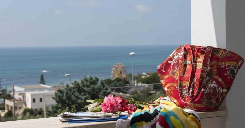 nella foto si vede il panorama dal terrazzo di una casa vacanze in Torre Vado in salento