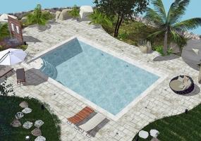 nella foto vediamo una bellissima piscina dall' alto in pescoluse di salve