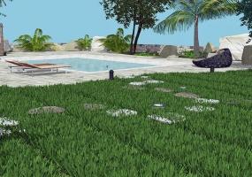 nella foto vediamo il progetto della piscina di una villa in pescoluse