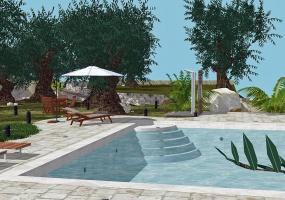 nella foto vediamo una meravigliosa piscina di una villa in pescoluse