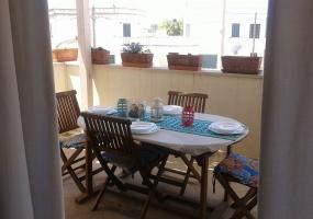 foto della terrazza esterna di una casa vacanze in salento precisamente in Santa Maria di Leuca
